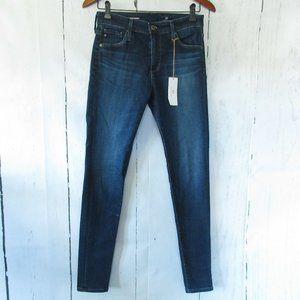 AG Jeans The Farrah High Rise Skinny Dark